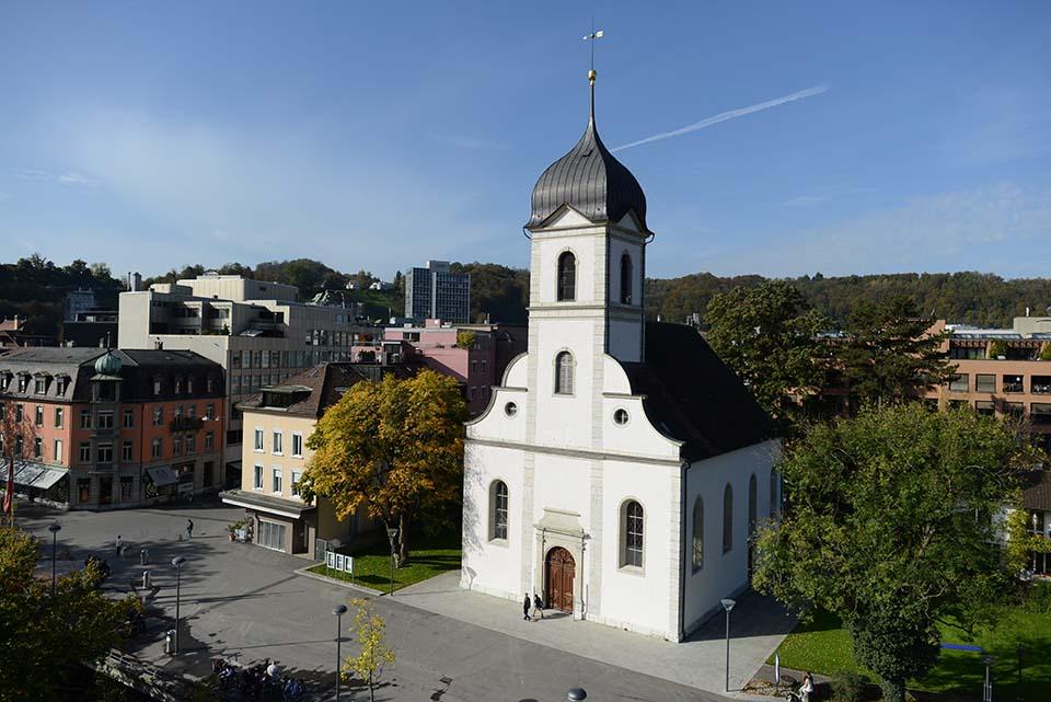 Reformierte Kirche, am Bahnhofplatz in Baden